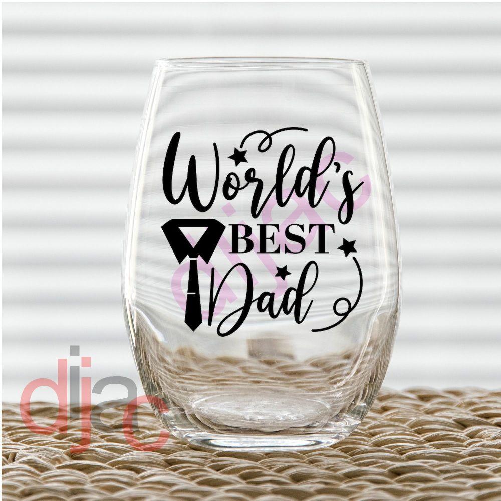 WORLD'S BEST DAD (D2)7.5 x 7.5 cm