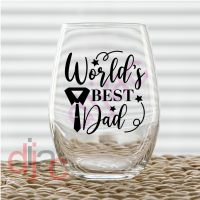 WORLD'S BEST DAD (D2)<br>7.5 x 7.5 cm