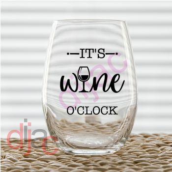 WINE O'CLOCK7.5 x 7.5 cm