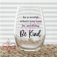 BE KIND<br>7.5 x 7.5 cm