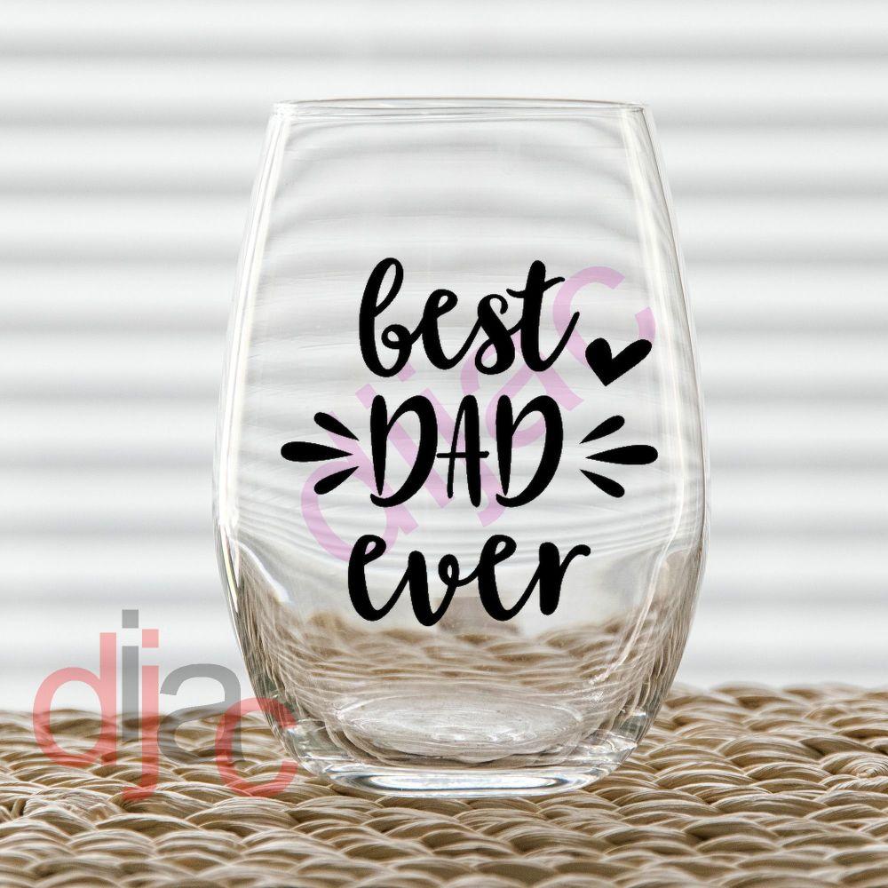 BEST DAD EVER (D1)<br>7.5 x 7.5 cm