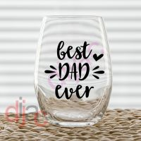 BEST DAD EVER (D1)<br>7.5 x 7.5 cm