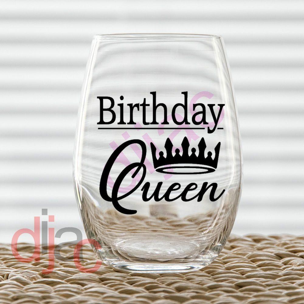 BIRTHDAY QUEEN VINYL DECAL
