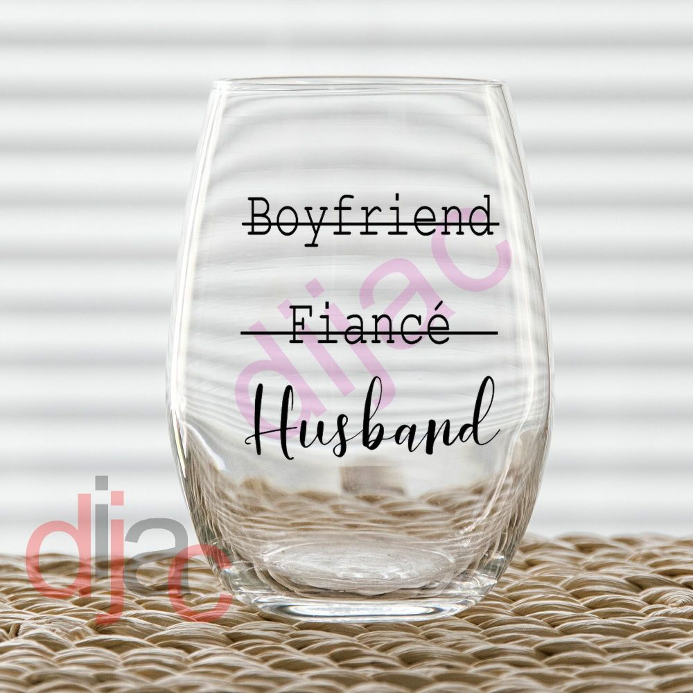 BOYFRIEND FIANCE HUSBAND VINYL DECAL