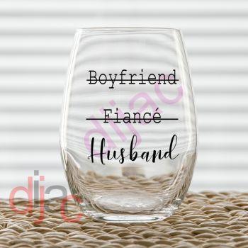 BOYFRIEND FIANCE HUSBAND VINYL DECAL