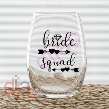 BRIDE SQUAD VINYL DECAL
