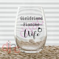 GIRLFRIEND FIANCEE WIFE VINYL DECAL
