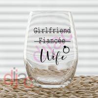 GIRLFRIEND FIANCEE WIFE VINYL DECAL