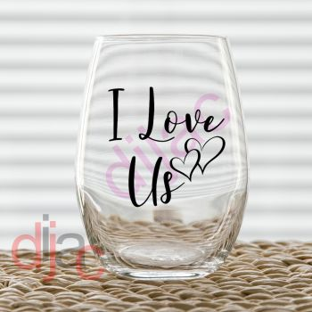 I LOVE US VINYL DECAL