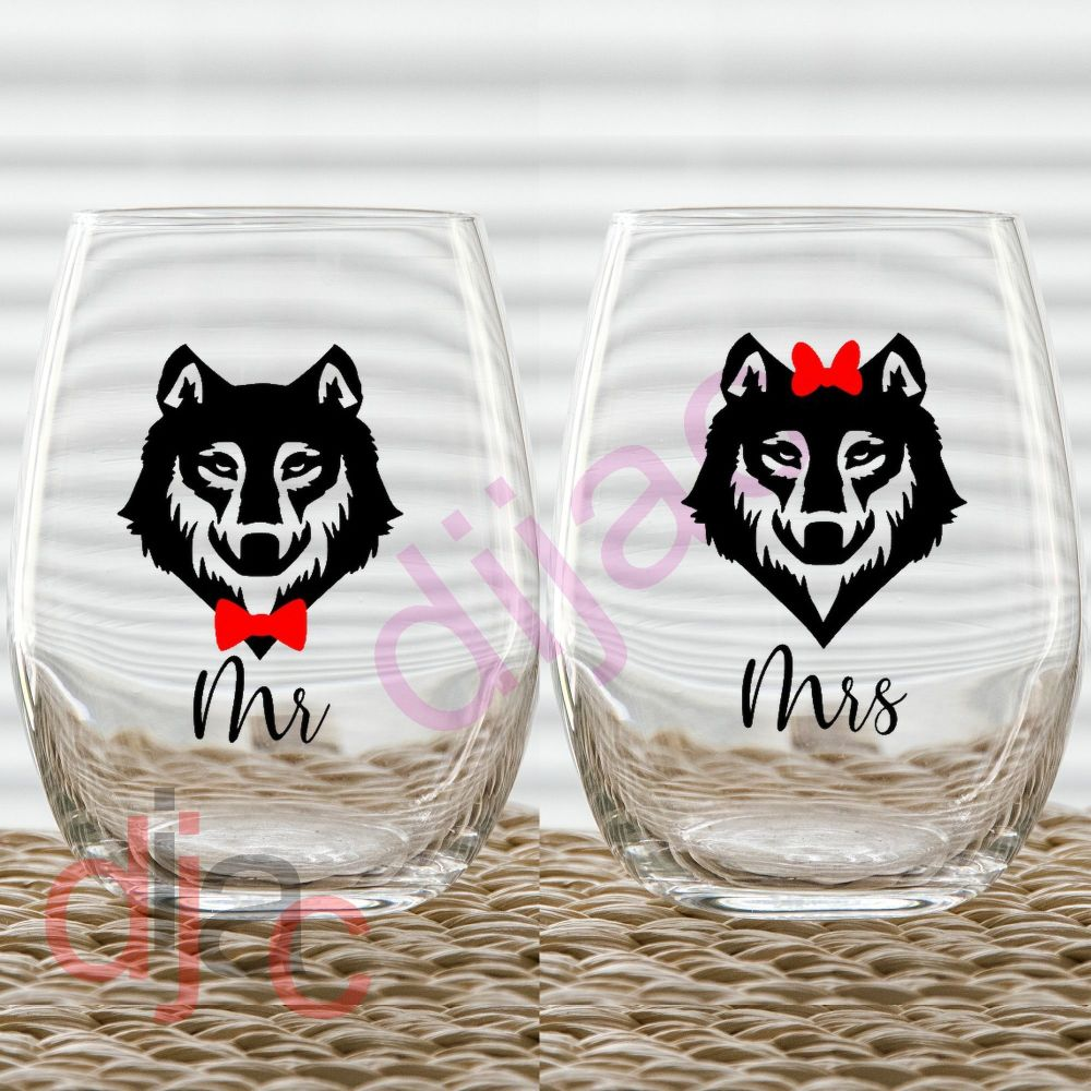 MR & MRS WOLF (D2) VINYL DECALS