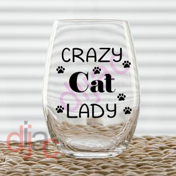 CRAZY CAT LADY (D3) VINYL DECAL