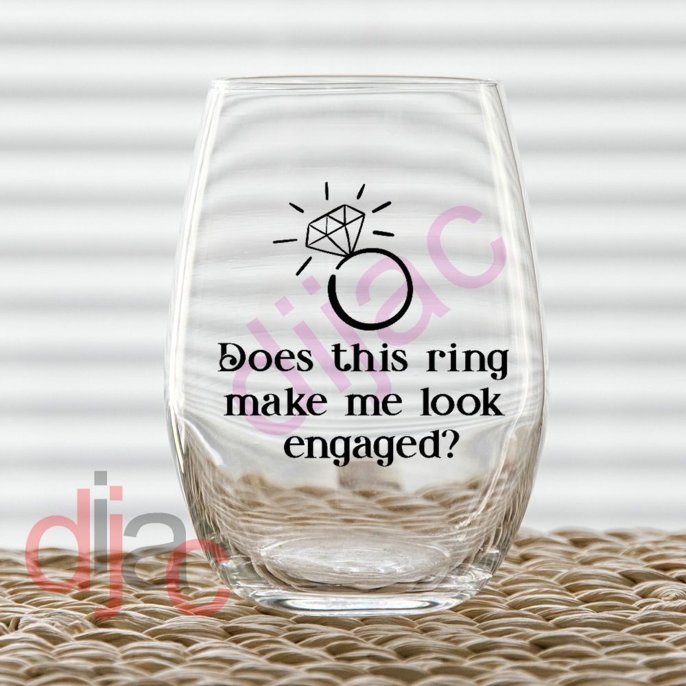 DOES THIS RING...? VINYL DECAL