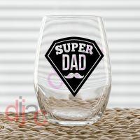 SUPER DAD (D1)<br>7.5 x 7.5 cm