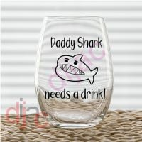 DADDY SHARK VINYL DECAL
