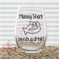 MUMMY SHARK VINYL DECAL