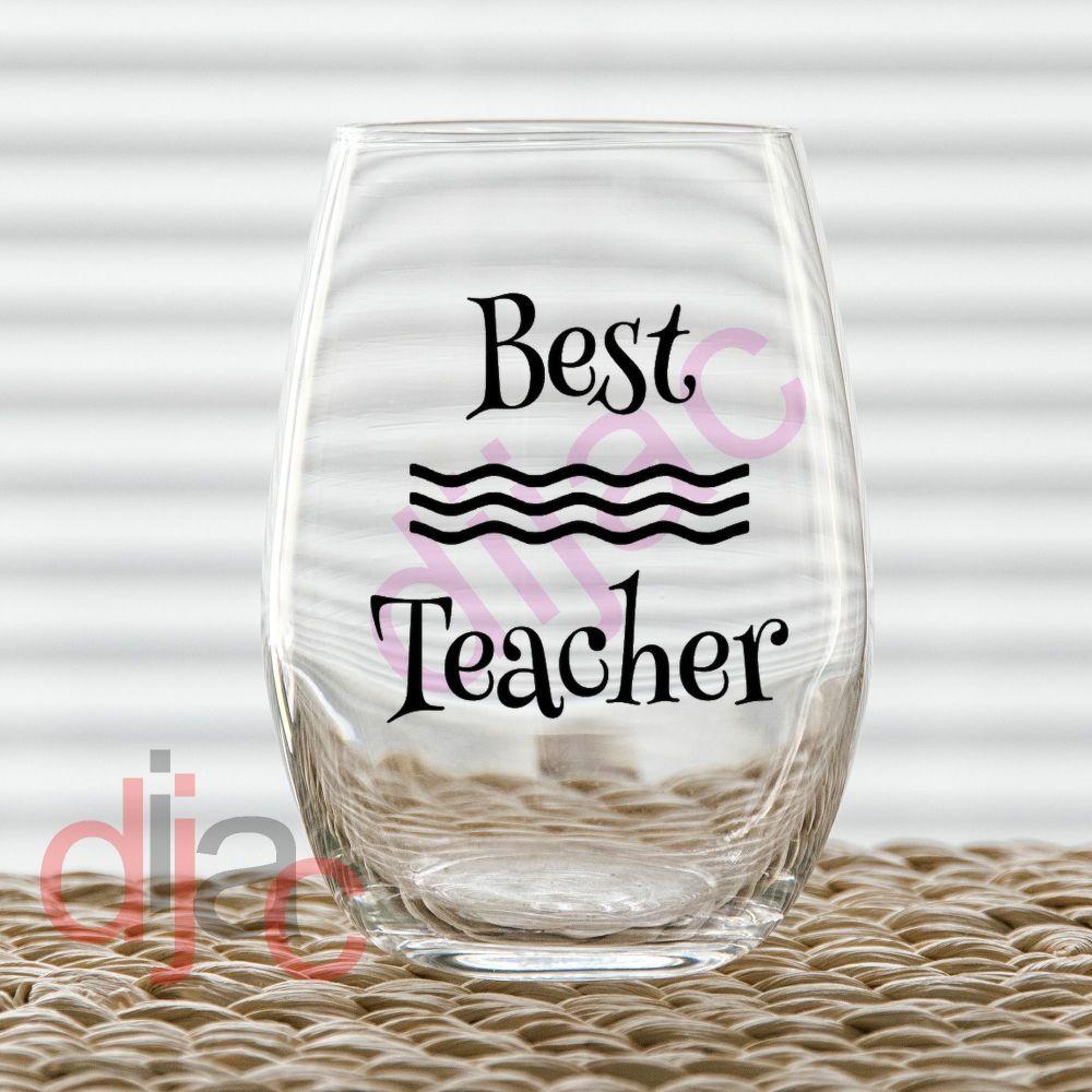 BEST TEACHER (D2) VINYL DECAL