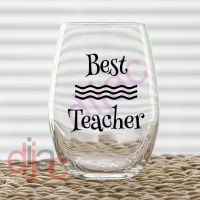 BEST TEACHER (D2) VINYL DECAL