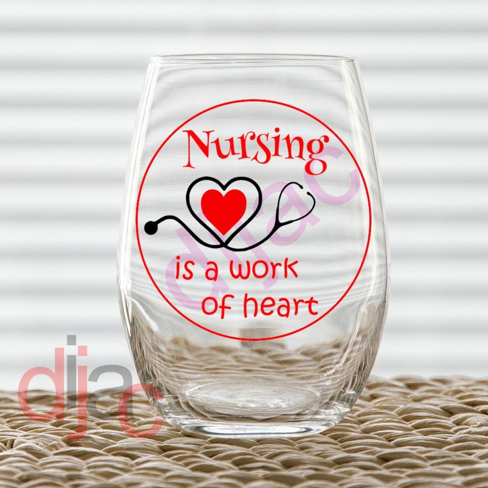 NURSING IS A WORK OF HEART (D1)<br> 7.5 x 7.5 cm