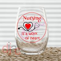 NURSING IS A WORK OF HEART (D1)<br> 7.5 x 7.5 cm