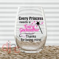 THANKS FOR BEING MY GODMOTHER VINYL DECALS