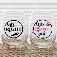 MR & MRS RIGHT (D2) VINYL DECALS