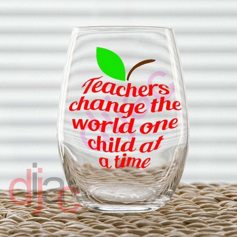 TEACHERS CHANGE THE WORLD DECAL