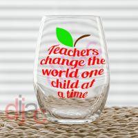TEACHERS CHANGE THE WORLD DECAL