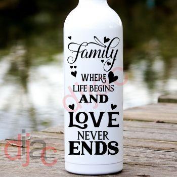 FAMILY...WHERE LIFE BEGINS (D2)8 x 17.5 cm