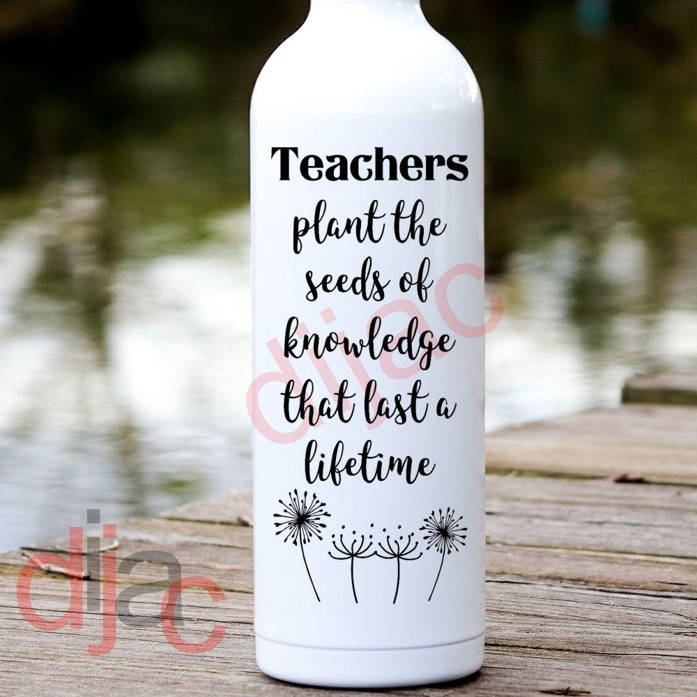 TEACHERS PLANT THE SEEDS...<br>8 x 17.5 cm