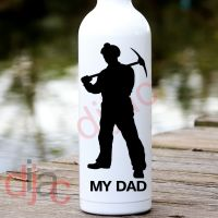 MY DAD<br>MINER<BR>8 x 17.5 cm DECAL