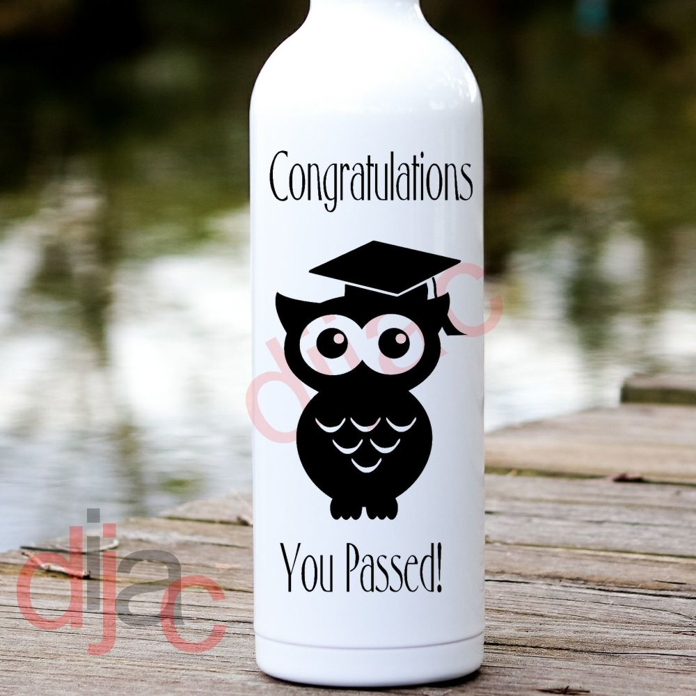 EXAM CONGRATULATIONS VINYL DECAL