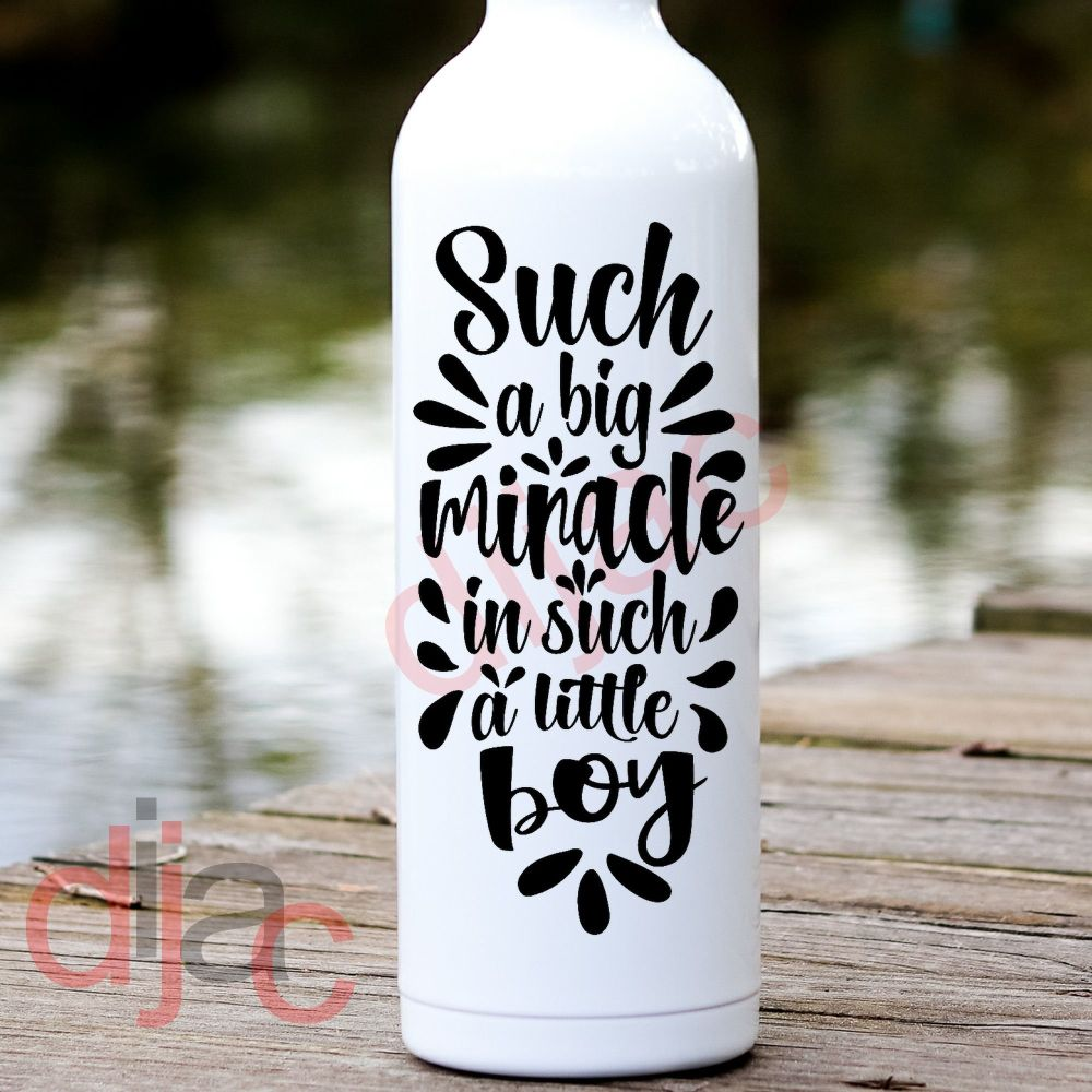 SUCH A BIG MIRACLE...BOY VINYL DECAL