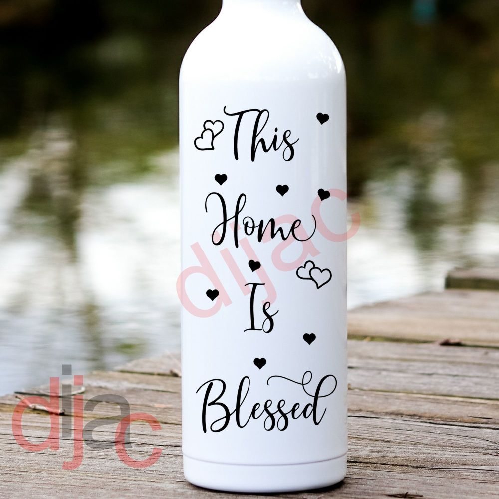 THIS HOME IS BLESSED<br>8 x 17.5 cm DECAL