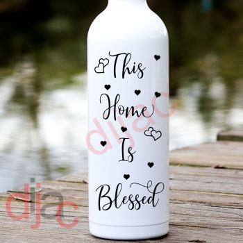THIS HOME IS BLESSED8 x 17.5 cm DECAL