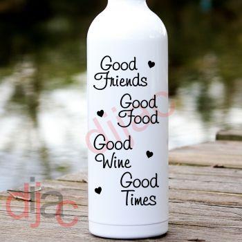 GOOD FRIENDS GOOD FOOD...8 x 17.5 cm