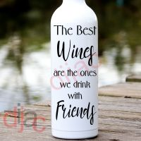 THE BEST WINES<br>8 x 17.5 cm