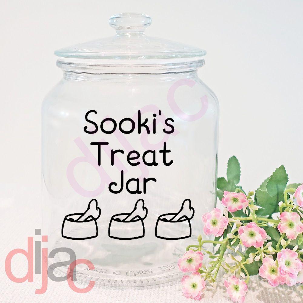 DOG TREAT JAR DECAL