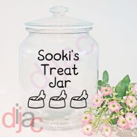 DOG TREAT JAR<br>9 x 9 cm