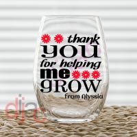 THANK YOU FOR HELPING ME GROW (D2)<br>7.5 x 7.5 cm