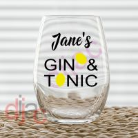 GIN & TONIC<br>7.5 x 7.5 cm