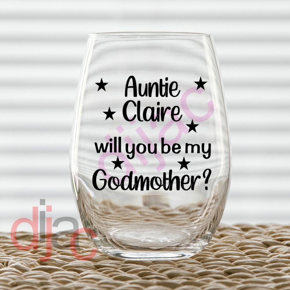 WILL YOU BE MY GODMOTHER? DECAL