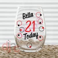 21 TODAY BIRTHDAY DECAL