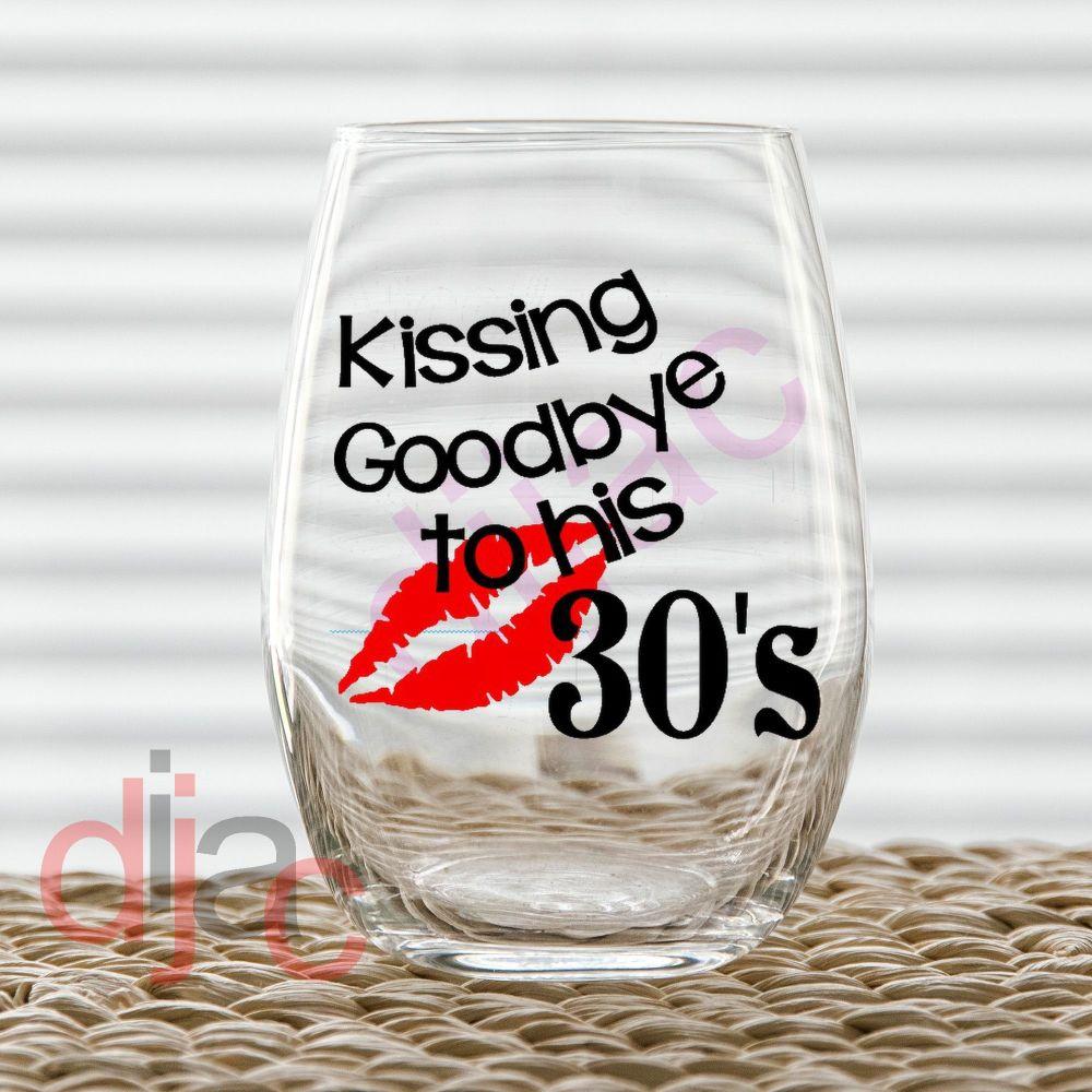 KISSING GOODBYE TO HIS....7.5 x 7.5 cm