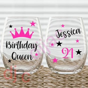 BIRTHDAY QUEEN DECAL SET
