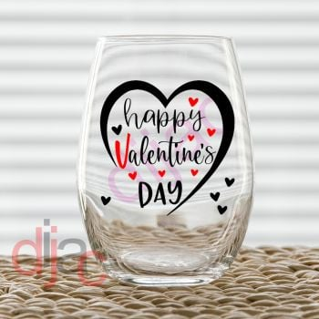 HAPPY VALENTINE'S DAY (D1)7.5 x 7.5 cm decal