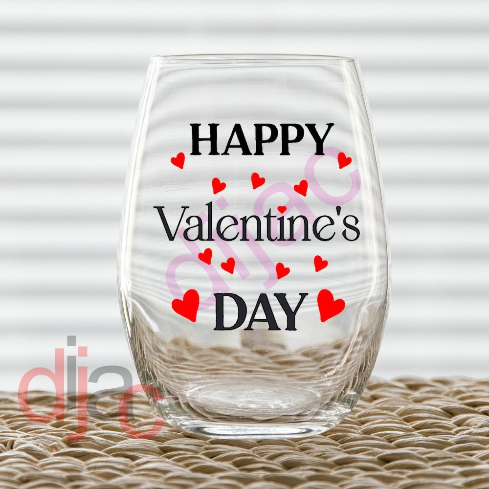 HAPPY VALENTINE'S DAY (D2)7.5 x 7.5 cm decal