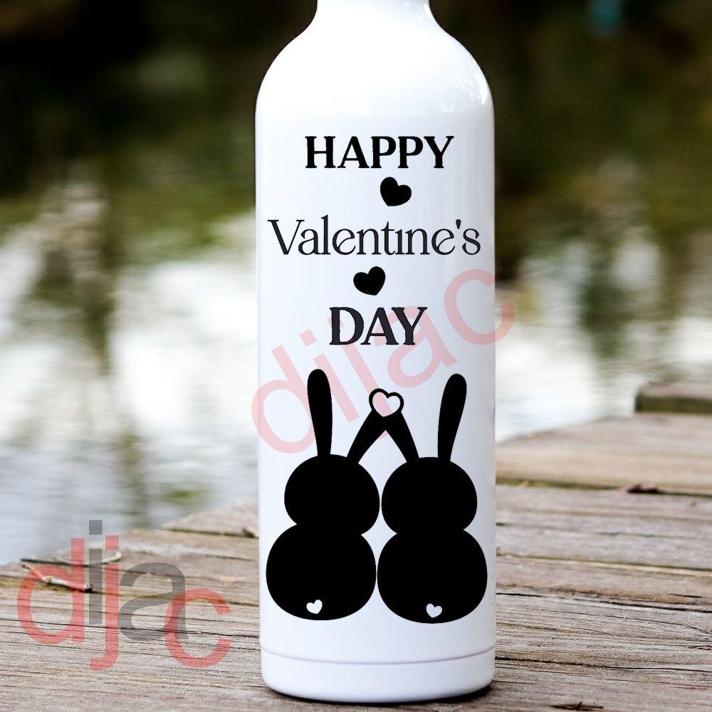 HAPPY VALENTINE'S DAY<BR>RABBITS<br>8 x 17.5 cm