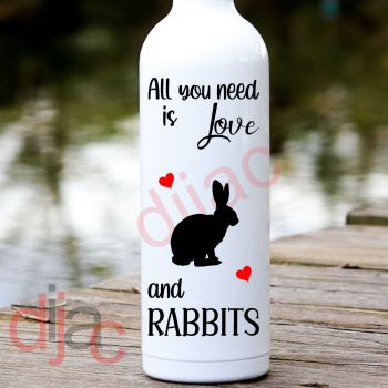 ALL YOU NEED IS LOVEAND RABBITS8 x 17.5 cm
