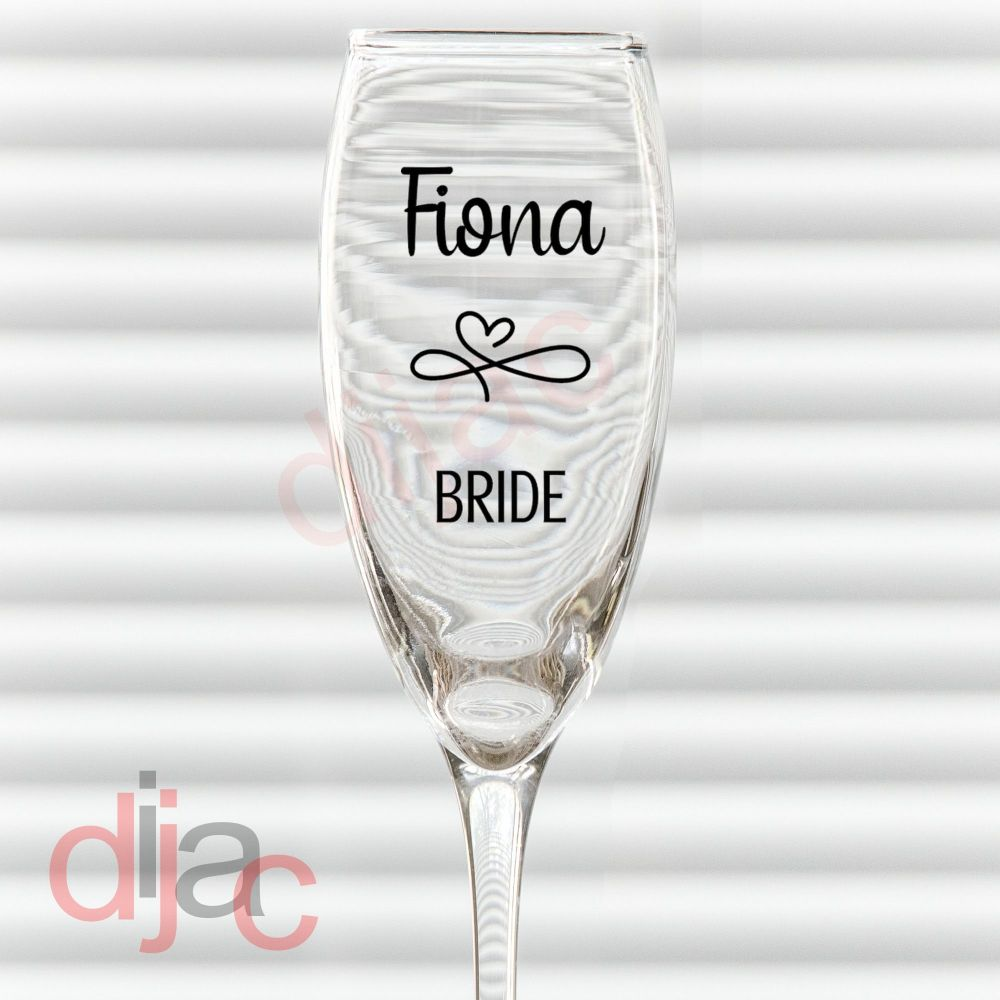 WEDDING NAME AND ROLEPERSONALISED6 x 8.5 cm