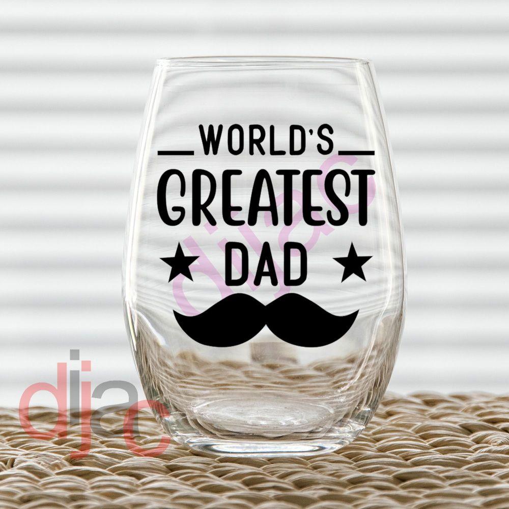 WORLD'S GREATEST DAD (D3)7.5 x 7.5 cm